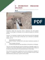 Pipeline Hydrotest Pressure Determination