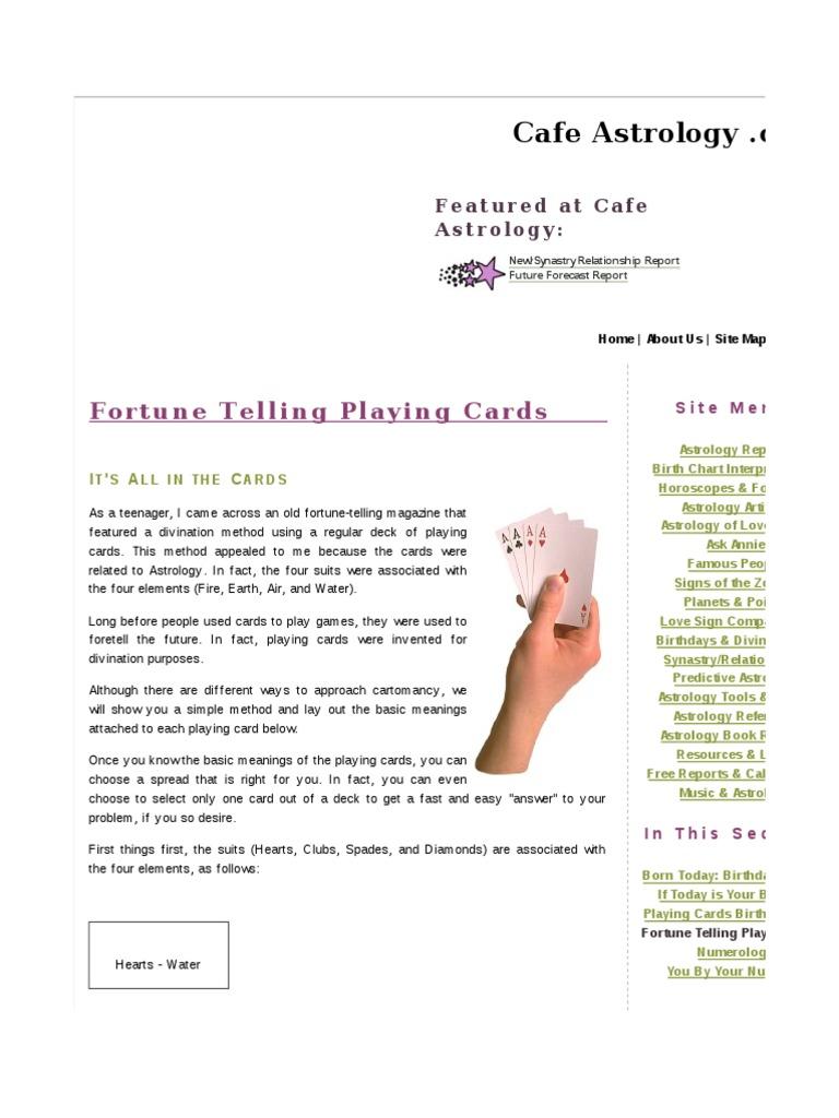 Fortunetelling Cards   Astrology   Horoscope