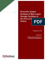 Economic Impact Analysis of Bulk Liquid at Port of Grays Harbor