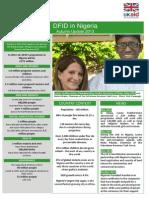 DFID in Nigeria - Autumn Update 2013 FINAL