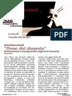 """Recensione a """"Prose dal dissesto. Antiromanzo e avanguardia negli anni sessanta"""" di Massimiliano Borelli"""