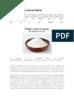 El bicarbonato cura el cáncer