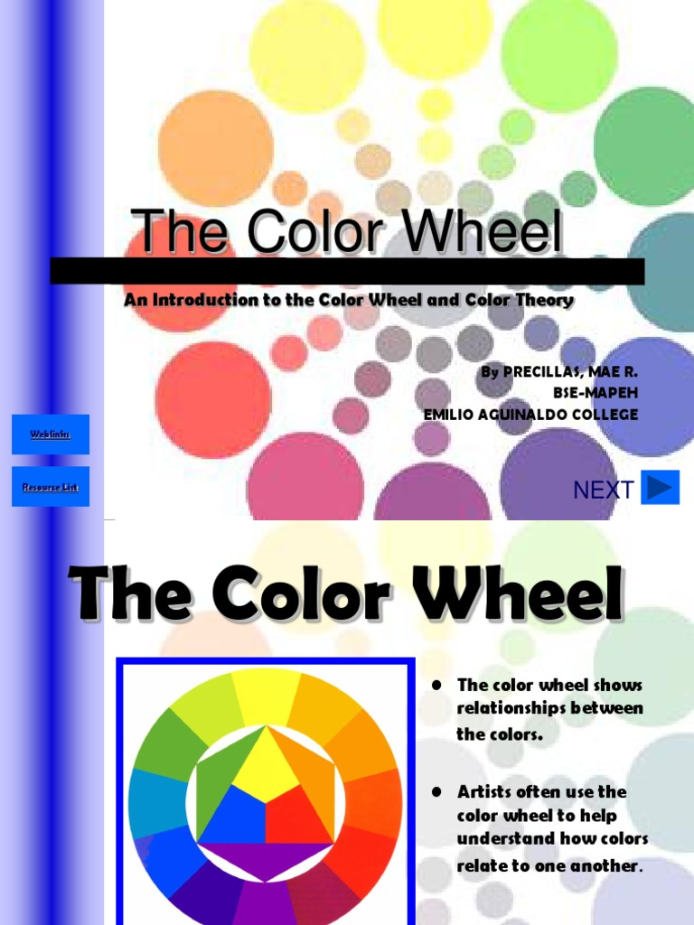 Color wheel powerpoint mae color yellow