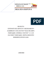 Memoria Descriptiva Extension Del Servicio JOSEFLEIX OLICORES ELJEBE