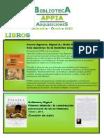 Biblioteca APPIA - Adquisiciones Set-oct 2013