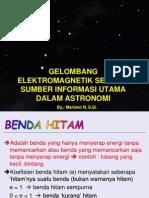 Radiasi Benda Hitam - Olimpiade Astronomi......