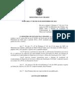 Portaria nº 582 de 05 de dezembro de 2012 - SIAC