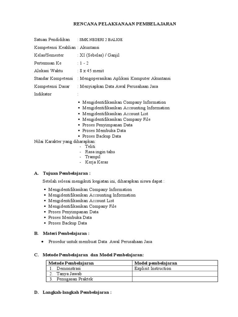 Rpp Akuntansi Kurikulum 2013 Doc Ilmusosial Id