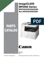 Canon Imageclass MF 6530 6550 6560 6580 Parts & Service imageCLASS MF6500n