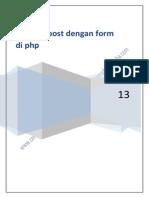 Membuat Form Dan Metode Post Di Php