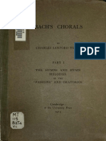 Bach's Chorals - Part 1 the Hymn & Hymn Melodies of the Passions & Oratorios (Charles Sanford Terry, 1915)