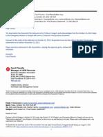"Washington v. William Morris Endeavor Entertainment et al. -- Confirmation of Claimant's ""Final Position Statement."" [October 18, 2013]"