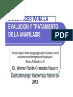 Anafilaxis Evaluacion y Tratamiento