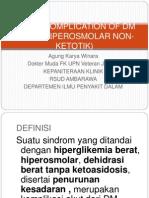 Honk (Hiperosmolar Non-ketotik)