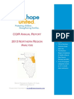 One Hope United 2013 CQIR Annual Report - Northern Region