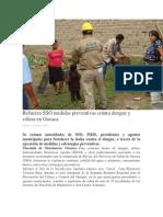 15/10/13 oaxaca-digital Refuerza SSO medidas preventivas contra dengue y cólera en Oaxaca