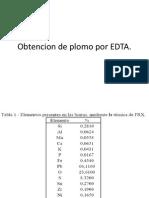 Obtencion de Plomo Por EDTA