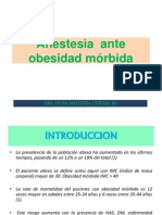 Anestesia Ante Obesidad Morbida