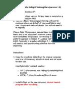 How to Transfer InSight 1.0 Training Data