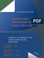 Identidades trigonométricas para ángulos