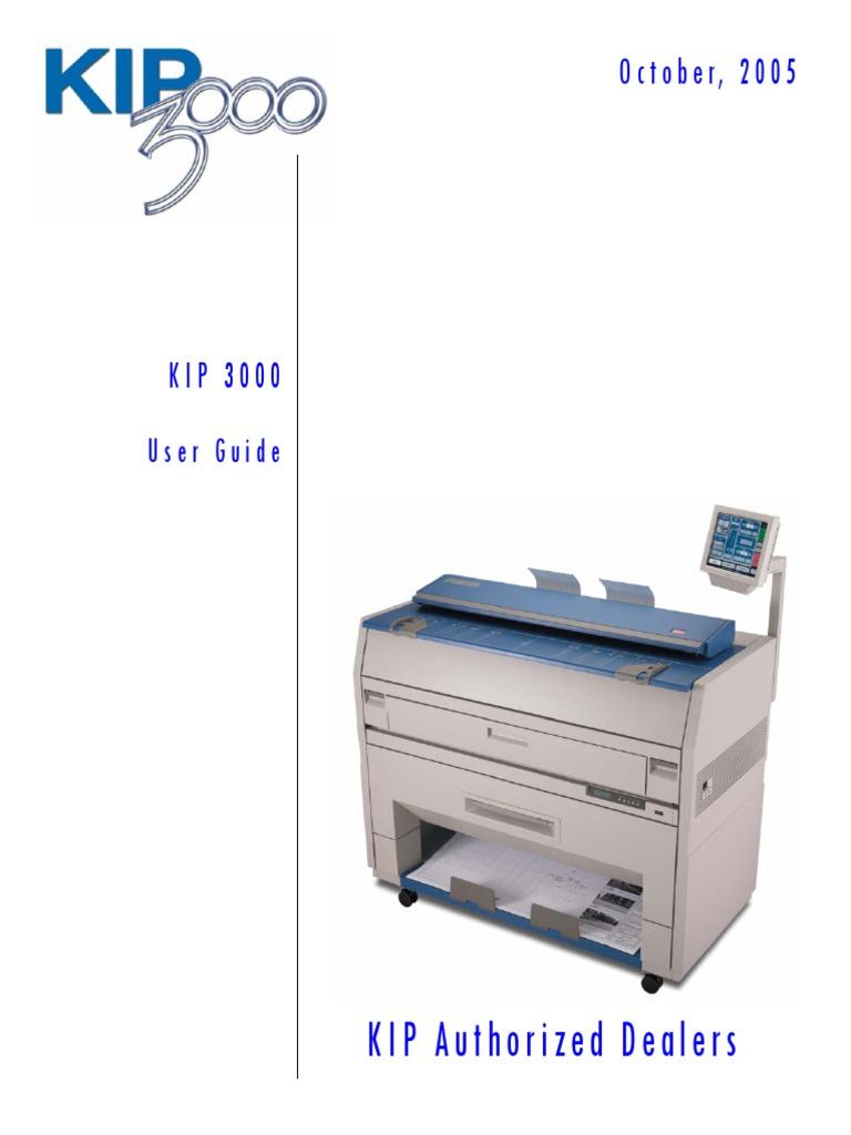 kip 3000 users guide a2 image scanner printer computing rh scribd com KIP 3100 DefaultPassword Install KIP 3100