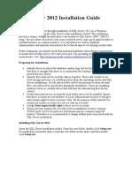 SQL Server 2012 Installation