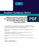 CIMA C1 - student guidance notes