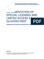 Implementation of Special Licenses and Limited Access System in Glover's Reef