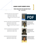 Jul Oct 2013 Welfare Fraud Arrest