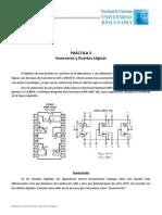 Practica 5 - Inversores y Puertas Logicas