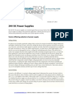TechCorner 37 - 24V DC Power Supplies