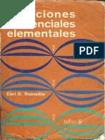 Ecuaciones Diferenciales Elementales [Rainville]