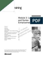 VB.net - Module 3_Language and Syntax Enhancements