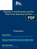 Aligning IT With Business - Mary Ruth Harsha and Greg Poehling