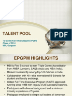 MDI Executive Batch Profile 2013-14