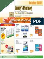 Landry's Pharmacy October Sales