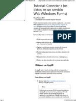 Conectar a Los Datos en Un Servicio Web (Windows Forms)