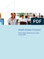 Ehealth eHealth Strategic FrameworkFramework