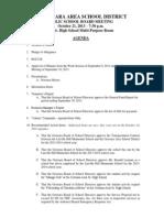 October 21, 2013 Regular Meeting Downloadable Agenda