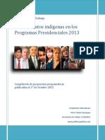 Chile Asuntos Indigenas en Programas Presidenciales 2013