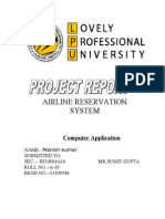 Air Lines Reservation in Inwdddia
