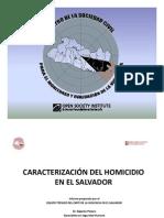 Caracterización del homicidio en El Salvador