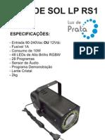 Manual Raio de Sol LP RS1 - Luz de Prata