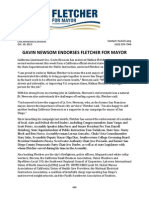 Gavin Newsom Endorses Fletcher