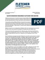 Gavin Newsom Endorses Fletcher