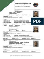 public arrest report for 10182013