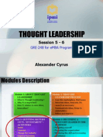 Thought Leadership - Session 5 & 6