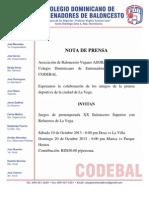 Colegio Dominicano de Entrenadores Nota de Prensa