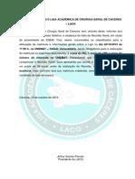 INFORMATIVO 01/2013 LIGA ACADÊMICA DE CIRURGIA GERAL DE CÁCERES – LACG