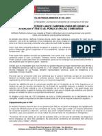 MINISTRO DEL INTERIOR LANZÓ CAMPAÑA PARA MEJORAR LA ATENCIÓN Y TRATO AL PÚBLICO EN LAS COMISARÍAS